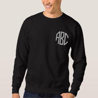 monogram initials embroidered sweatshirt