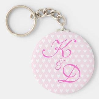 Monogram initials for engagement or wedding keychain