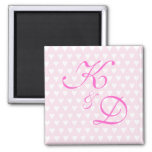 Monogram initials for engagement or wedding fridge magnets