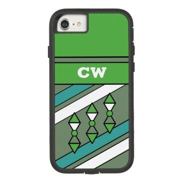 Monogram initials for men khaki green Case-Mate tough extreme iPhone 8/7 case