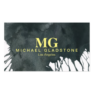 Monogram Ink (yellow) Business Card