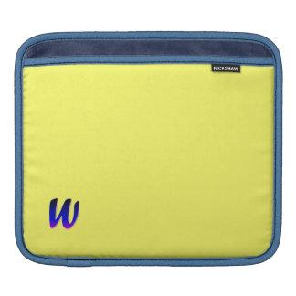 Monogram iPad Sleeve in Yellow
