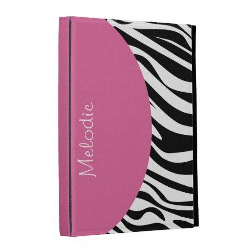 Monogram iPad Zebra Case iPad Folio Cover