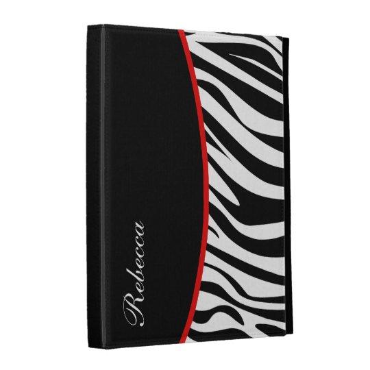Monogram iPad Zebra Case iPad Folio Case
