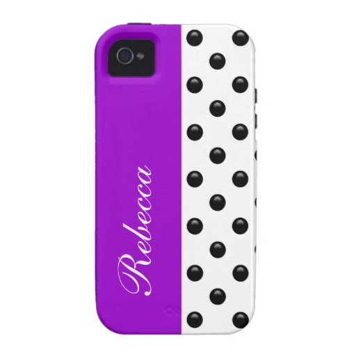 Monogram iPhone 4 Polka Dot Case Case For The iPhone 4