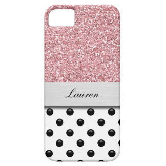 Monogram iPhone 5 Glitter Case Fixed