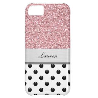 Monogram iPhone 5C Glitter Case