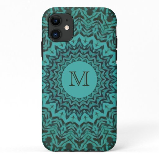 Monogram iPhone Case - Sea Green Sundial