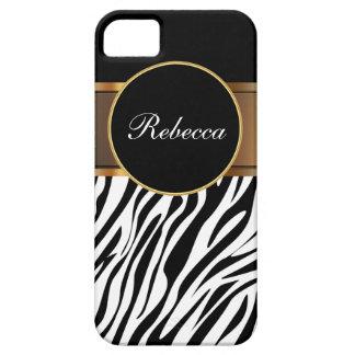 Monogram iPhone Case Zebra iPhone 5 Case