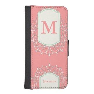 Monogram iphone wallet case