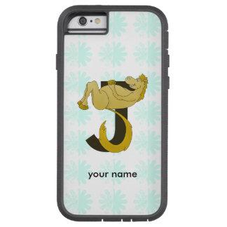 Monogram J Flexible Horse Personalised Tough Xtreme iPhone 6 Case