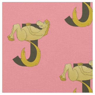 Monogram J Flexible Horse Personalised Fabric
