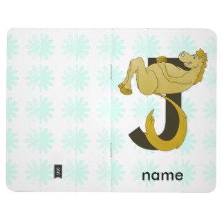 Monogram J Flexible Horse Personalised Journal