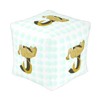 Monogram J Flexible Horse Personalised Cube Pouf