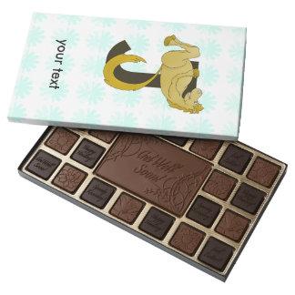Monogram J Flexible Horse Personalised 45 Piece Box Of Chocolates