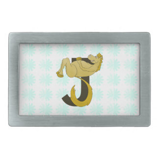 Monogram J Flexible Pony Personalized Belt Buckle