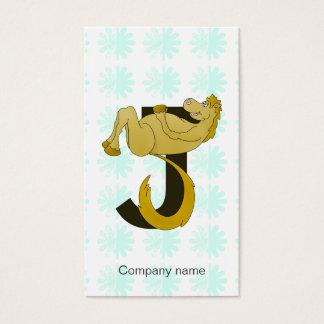 Monogram J Flexible Pony Personalized Business Card