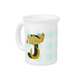 Monogram J Flexible Pony Personalized Drink Pitcher