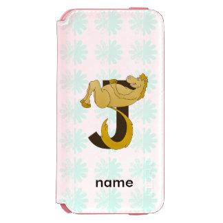 Monogram J Flexible Pony Personalized Incipio Watson™ iPhone 6 Wallet Case