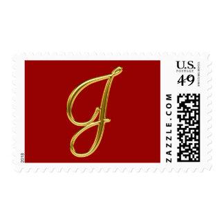 Monogram J Gold Postage
