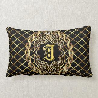 Monogram J IMPORTANT Read About Design Lumbar Pillow