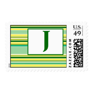 Monogram : J Postage