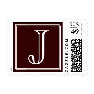 Monogram J Postage Stamp