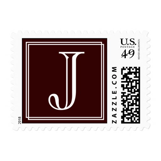 Monogram : J Postage Stamp