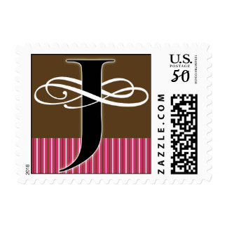 Monogram J Postage -- Pick Your Own Color!