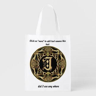 Monogram J Shopping Bag