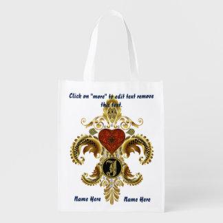 Monogram J Shopping Bag Reusable
