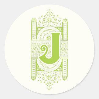 Monogram J Stickers