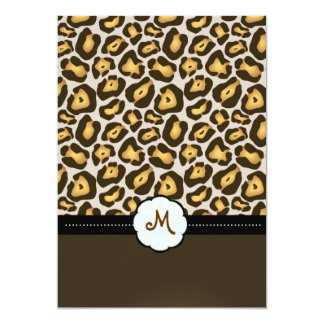 Monogram/Jaguar Wedding Invitations