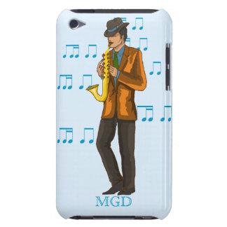 monogram Jazzman saxophone player, notes iPod Touch Case