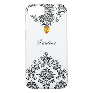 Monogram Jewel Damask iPhone 8/7 Case