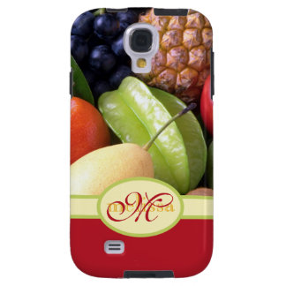 Monogram Juicy Natural Delicious Ripe Fresh Fruits Galaxy S4 Case