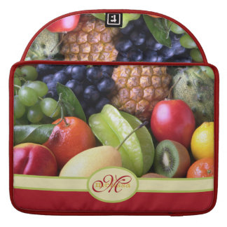 Monogram Juicy Natural Delicious Ripe Fresh Fruits MacBook Pro Sleeve