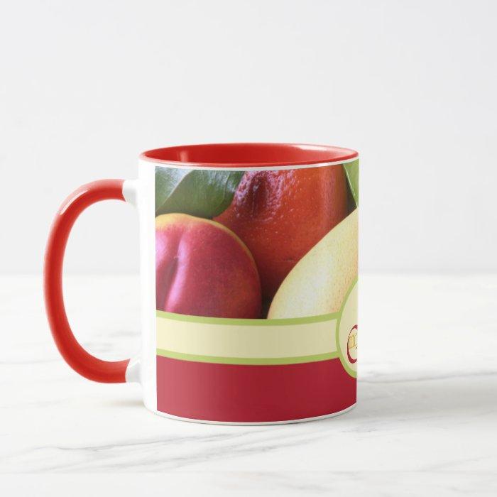 Monogram Juicy Natural Delicious Ripe Fresh Fruits Mug
