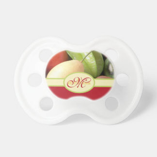 Monogram Juicy Natural Delicious Ripe Fresh Fruits Pacifier