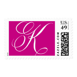 Monogram K 2 by Ceci New York Postage Stamp