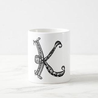Monogram K Custom Mug