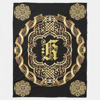 Monogram K CUSTOMIZE To Change Background Color Fleece Blanket