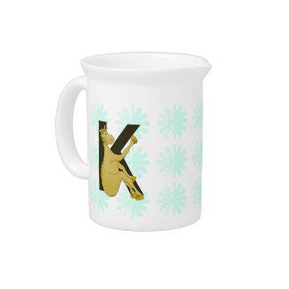 Monogram K Flexible Horse Personalised Beverage Pitcher