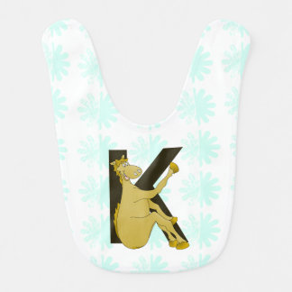 Monogram K Flexible Horse Personalised Bib