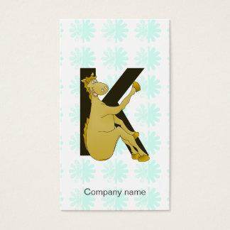 Monogram K Flexible Horse Personalised Business Card