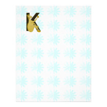 Monogram K Flexible Horse Personalised Letterhead