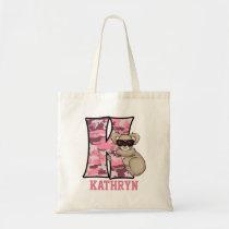 Monogram K for Girls Pink Koala Bear Tote Bag