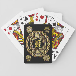 Monogram K IMPORTANT Read About Design Playing Cards