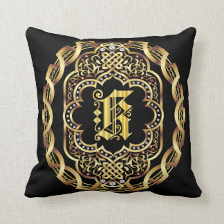 Monogram K IMPORTANT Read About Design Throw Pillow