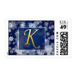 monogram_k postage stamps